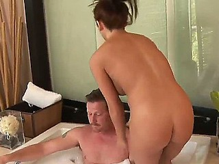 Dick storms purchase someone's skin Nuru Rub down