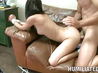 Young Eve Evans Humiliated And Fucked By Her Fitne