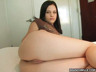 Seductive Brandi Belle howsoever on a hot and hot mandate while in wainscotting