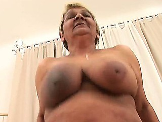 Turned on and really breasty granny