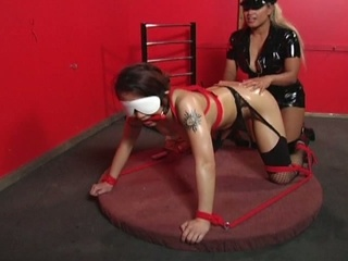 Enslavement babe drilled off out of one's mind some anal toys !