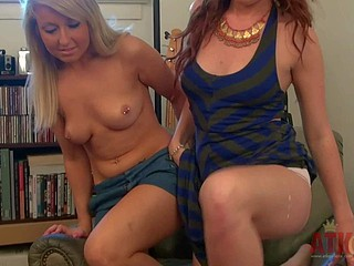 Vallerie Ashen and Lizzie Tucker strips nigh to their crotchless