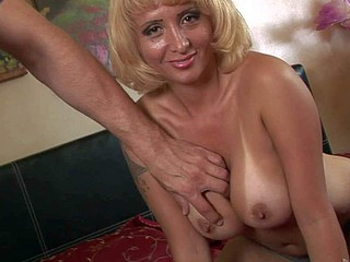 Sophia Marangos is a horny mature bimbo with big tanlined