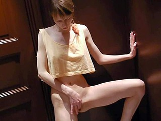 Skinny legal girl Beata spreads will not hear of slim legs in the matter of the