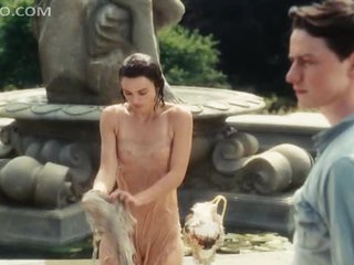 Sensual Keira Knightley All Wet In a See-Through Clothes