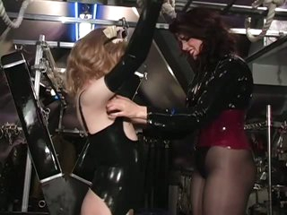 Submissive Cross Dresser Diane Gets Fastened and Tickled To Death