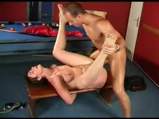 Short hair milf with truly long load of shit in her