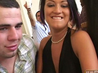 Boy-Friends and gals on hook-up party