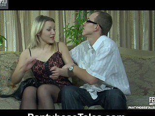 Connie&Morris videotaped whilst pantyhosefucking
