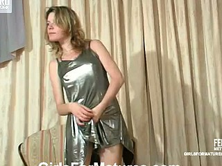 Caught with sex-toy stuck between her arms leggy angel had to please simmering mamma
