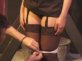Secretly girl receives say no to lovely cum-hole humiliated by Slaver