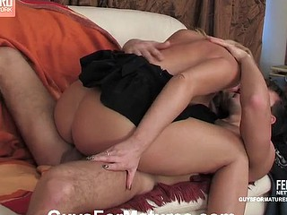 Bridget&Clifford red hawt mature movie scene