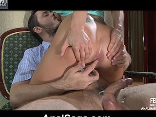 Foxy beauty getting her palatable ass rimmed and boned by her desirous boyfriend
