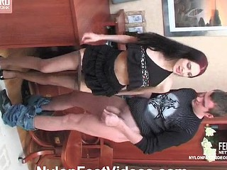 Judith&Christopher raging nylon footsex