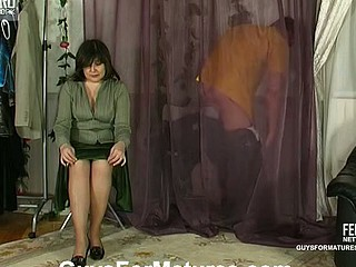 Outrageously sexy scoring with voluptuous aged chick and well-hung chap