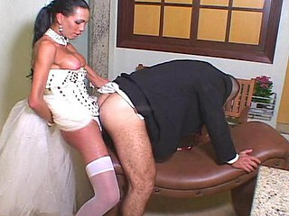 Hot transsexual bride can