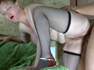 Chubby doyen Freulein spreads her legs begging for snatch play and raw dicking