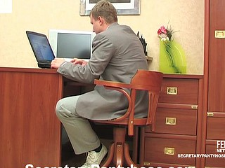 Joan&Adrian secretary pantyhose tweak