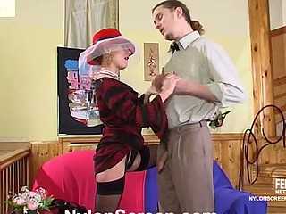 Alice&Mike sexy nylon blear