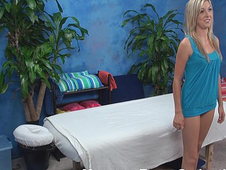Golden-Haired hottie looks so good in her tiny blue outfit but this babe is even more excellent after staying stripped. Pretty boyfrend gives good private massage to her and then stuffs juicy cookie of girlie by his monster dong.