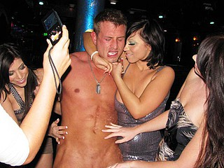 Getting the angels from the office jointly for lunch and heading out to a lonely strip club is one guy's fortunate day the second this guy saw these breasty and wild cuties come in. They not solely tipped him well, they likewise took his chap hood and fucked his lucky brains out! U have to see these incredible office bitches bust loose and show off their work force...