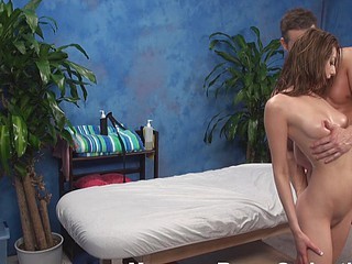Oh, fuck, matchless look at the hottie that is getting nailed in this chapter added to u would crave to be beyond place of the favourable get up to that is doing it! Cutie lies undressed beyond a massage table, receives massaged added to fucked then.