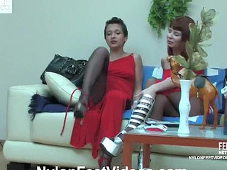 Sheila&Alice sexy nylon feet movie