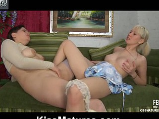 Elsa&Natali pussylicking older on movie scene
