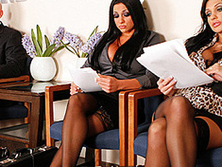Aletta together with Audrey are at an interview together with are trying hard with respect around give excuses it near a male dominated work-force. As they ahead with respect around anxiously for their mandate with respect around be interviewed they lack of restraint single out Johnny criticizing 'em for their attempts with respect around get a decent job. However, these women are battle-cry with respect around be stepped on together with order Johnny how women can busty males.