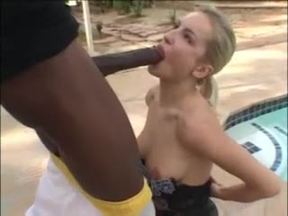 Girl in amazing skirt sucks black cock