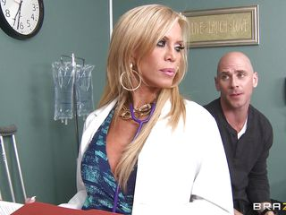Johnny Sins is not feeling well so he goes to Dr. Amber Lynn to check things out. amber is a beautiful, experienced 50 year old blonde goddess. She sucks his dong and gives him a great tit fuck to make him feel much better.