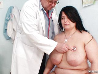 Chubby dark brown Rosana went to doctor's to get her body checked up well. But there is this wicked pervert doctor who makes her naked and starts playing with her firm bulky body! See how he is toying with her massive boobs and gaping her pussy. He even fingers it to make her horny so that he can screw her well!