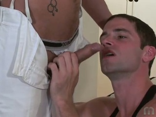 Horny hunk have the hots for large cocks and wet spunk in homosexual fuck