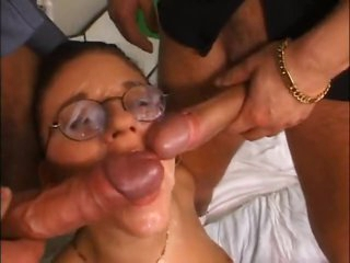 Hotty takes loads on her glasses