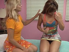 Lesbian Moms exchange their young daughters