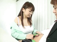 Busty JAP chick give nice blow